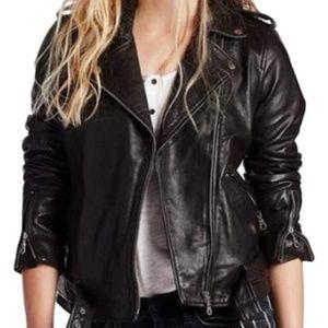 Lucky Brand Major Moto Leather Jacket-Sz S